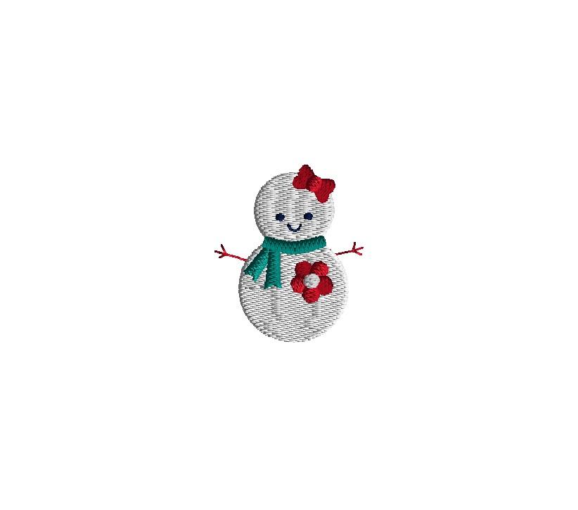 Mini Snowman Embroidery Design