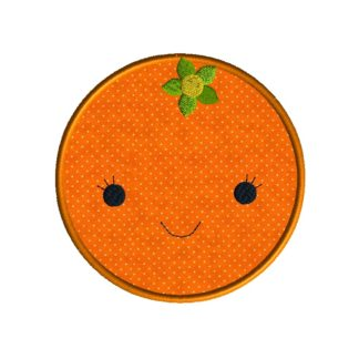 Orange Applique Design