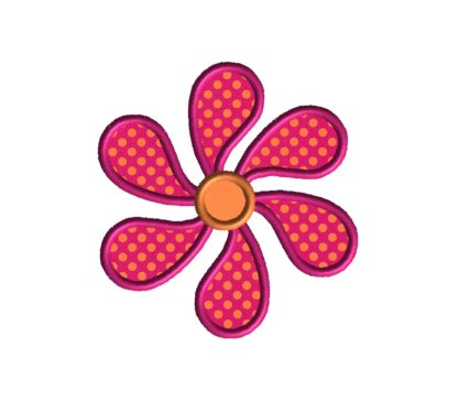 Paisley Flower Applique Design