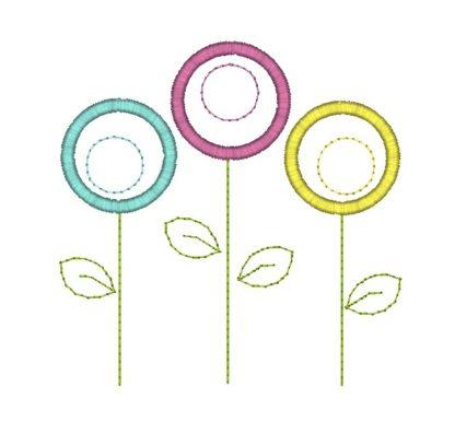 Poppies Flower Applique Design
