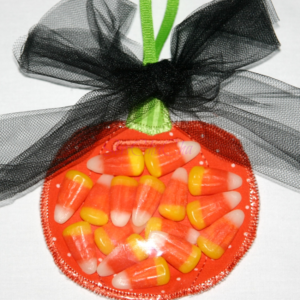 Pumpkin Party Favor In The Hoop Embroidery Design