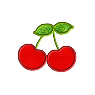 Red Cherries Applique Design
