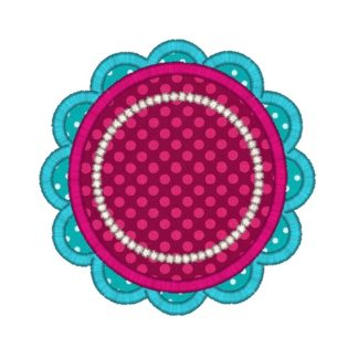 Scallop Flower Applique Design