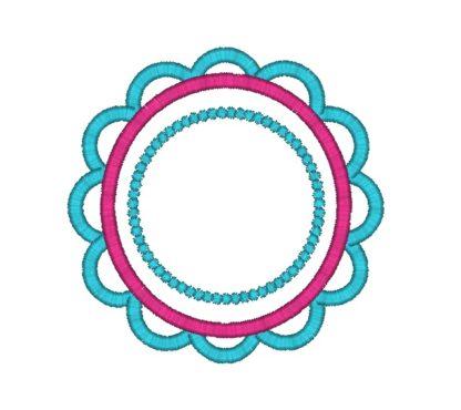 Scallop Flower Applique Design