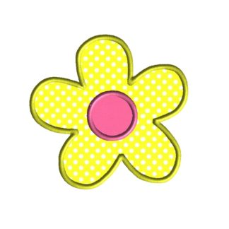 Simple Flower Applique Design
