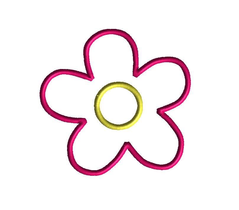 Simple Flower Applique Design