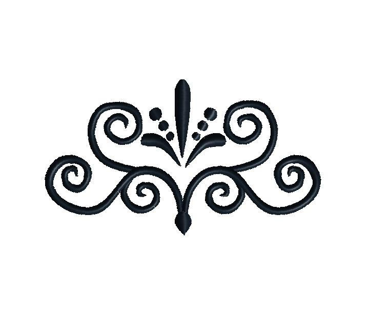 Flourish Embroidery Design