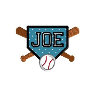 Baseball Frame Embroidery Design