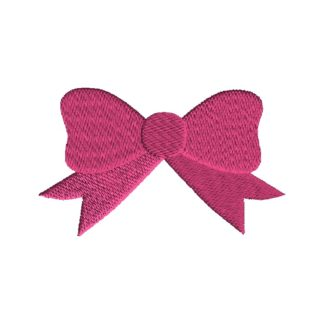 Bow Filled Stitch Embroidery Design