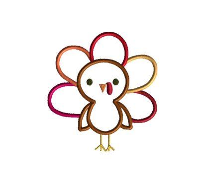 Cute Turkey Applique-16