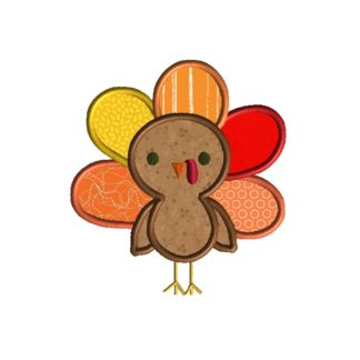 Cute Turkey Applique-0