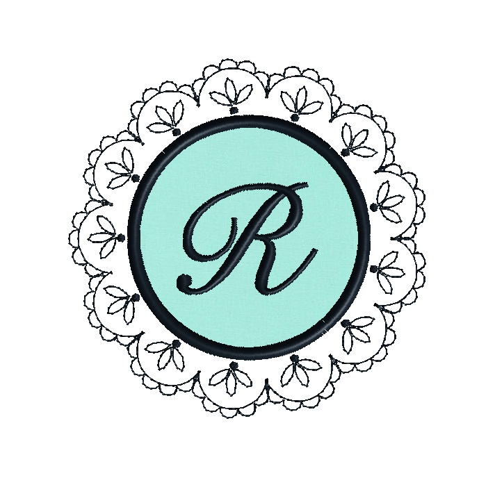 Doily Frame Applique Design