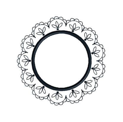 Doily Frame Applique Design