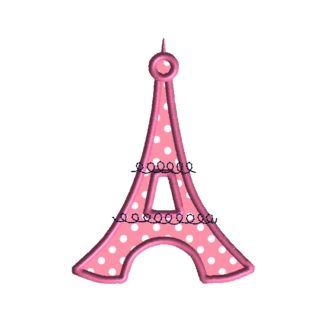 Eiffel Tower Applique Design