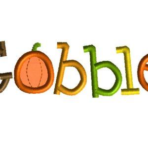 Gobble Machine Embroidery Design