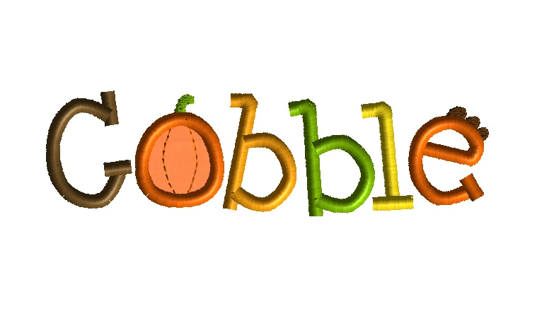 Gobble Machine Embroidery Design