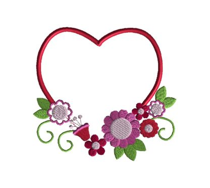 Heart Frame II Embroidery Design