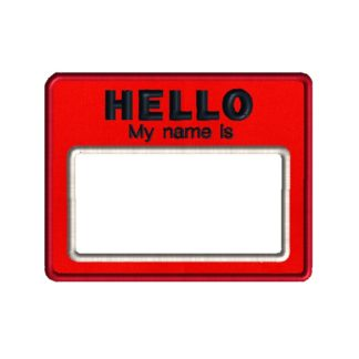 Name Tag Applique Design