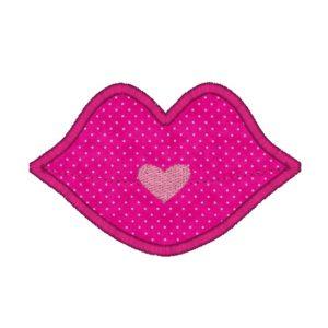 Lips Applique Design