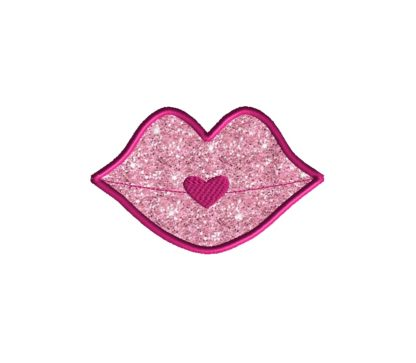 Lips Applique Design