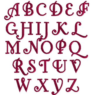 Little Lord Fontleroy Embroidery Font