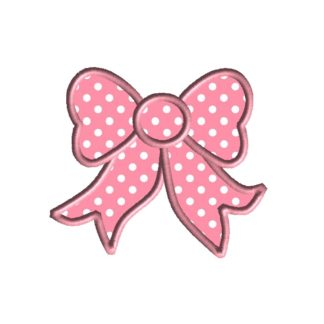 Pretty Bow Applique Design