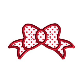 Princess Bow Applique Design