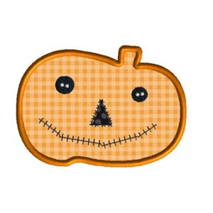 Pumpkin Applique Design Jack O Lantern