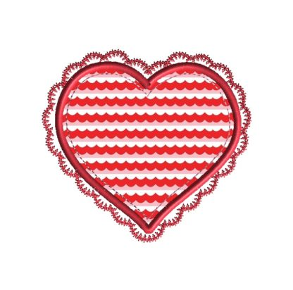 Scallop Heart Applique Design
