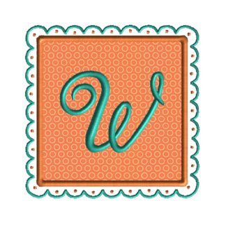 Square Scallop Frame Applique Design