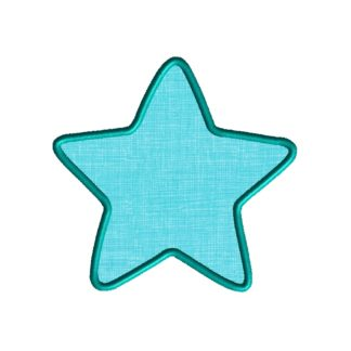 Star Frame Applique Design
