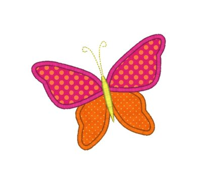 Whimsy Butterfly Applique Design