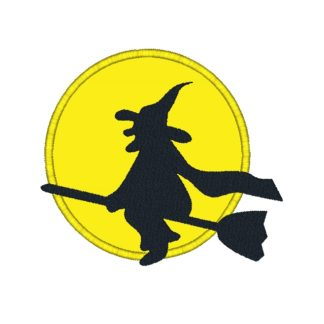 Witch Silhouette Applique Design