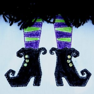 Witch Boots Applique Design