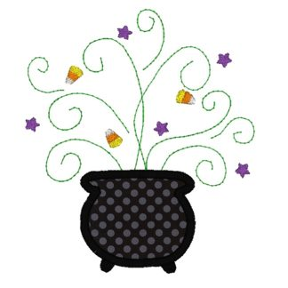 Witch's Brew Applique Design