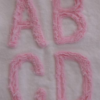 Chenille Machine Embroidery Font