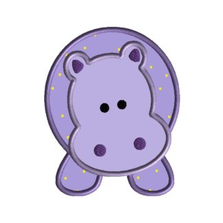 Hippopotamus Applique Design