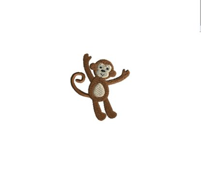 Mini Monkey Embroidery Design