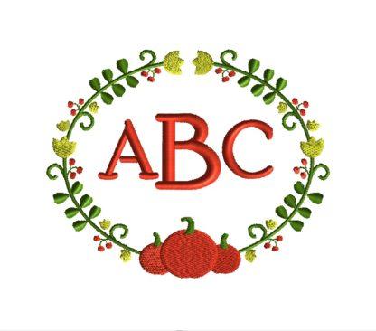 Harvest Frame Embroidery Design