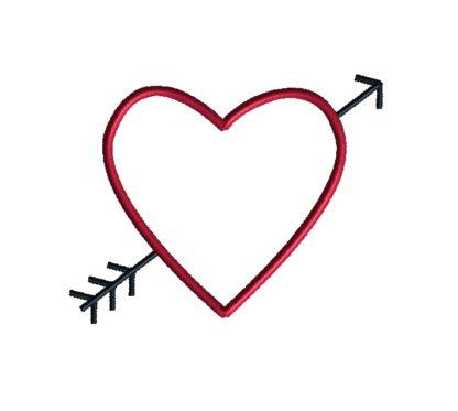 Heart and Arrow Applique Design-731
