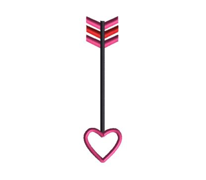 Heart Arrow Applique Design