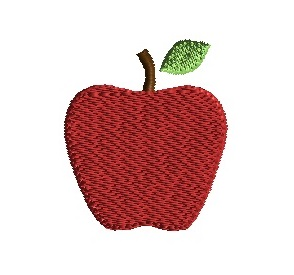 Mini Apple Machine Embroidery Design School Teacher Design