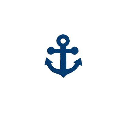 Mini Anchor Embroidery Design