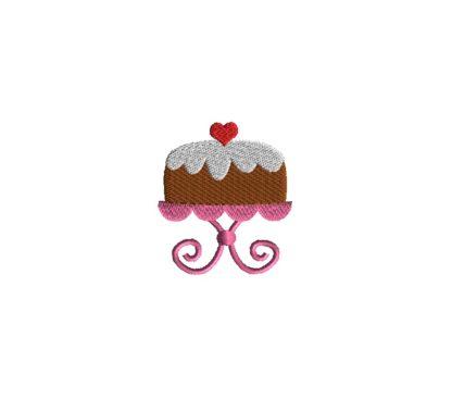 Mini Cake Embroidery Design