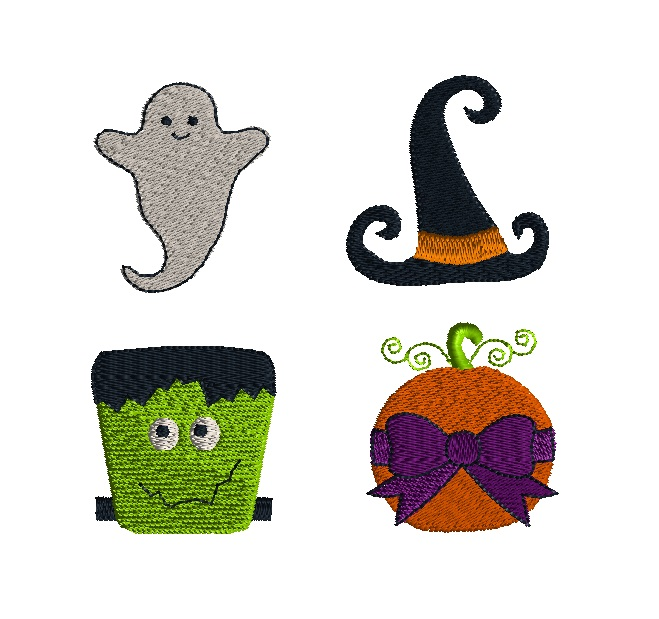 Mini Halloween Embroidery Set