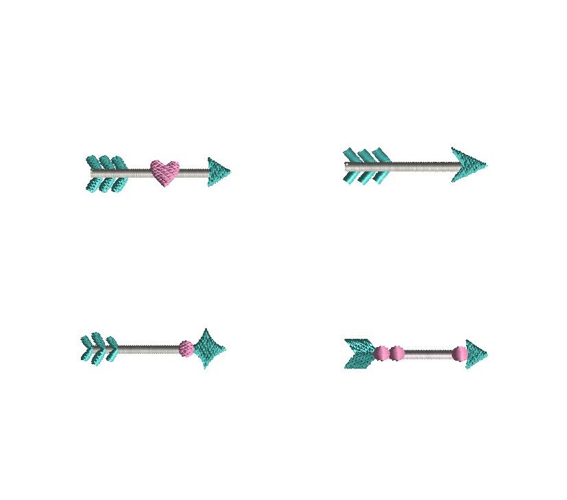 Mini Arrow Embroidery Set