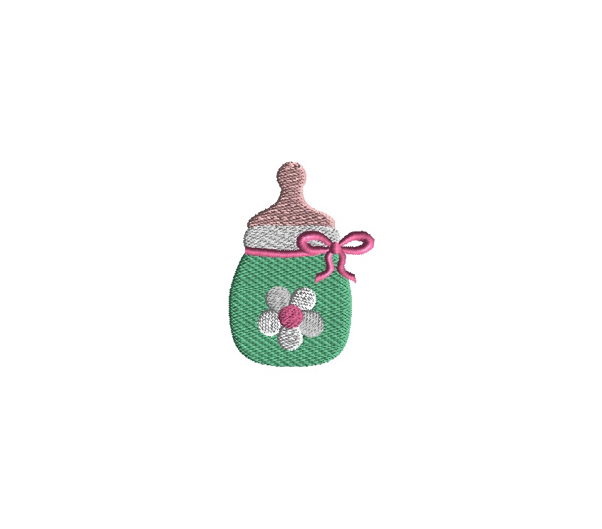 Mini Baby Bottle Embroidery