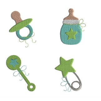 Mini Baby Boy Embroidery Set
