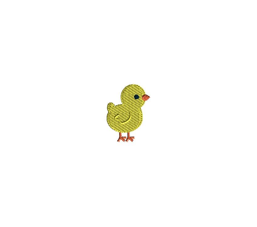 Mini Chick Embroidery Design