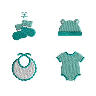 Mini Baby Girl Embroidery Set